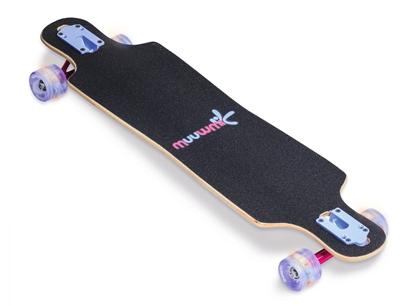 Изображение Muuwmi Longboard Compact Skateboard skrituļdēlis, ABEC 7, ar gaismiņām