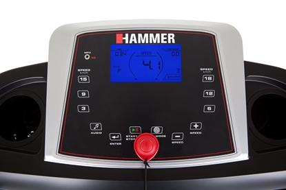 Изображение Hammer 2000M Race Runner Treadmill, 110 kg, 2 HP, Black/Silver/Red, LCD-Display