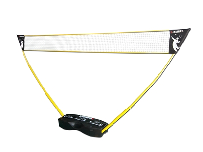 Изображение Hammer 3in1 Net Set for Volleyball, Badminton and Tennis Black/Yellow