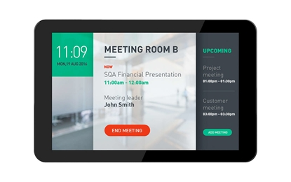 """Attēls no 10"""" multi touch (5) , XGA, Android 8 display - P-cap, POE, Internal memory., built-in camera and speakers, scheduler."""