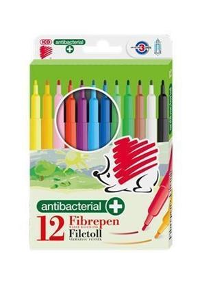 Attēls no ICO Flomasteri  , antibakteriālie, 12 krāsās