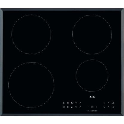 Attēls no AEG IKB64301FB Black Built-in Zone induction hob 4 zone(s)