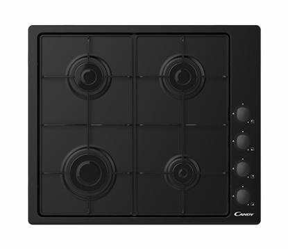 Attēls no Candy CHW6LBB Black Built-in 60 cm Gas 4 zone(s)
