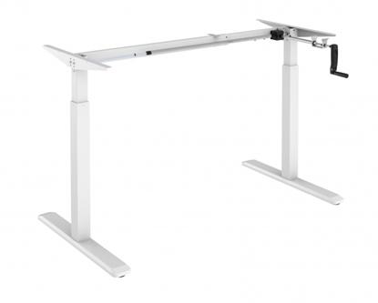 Изображение Up Up Height adjustable desk frame Ragnar, white