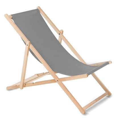 Attēls no Wooden chair made of quality beech wood with three adjustable backrest positions Grey colour GreenBlue GB183