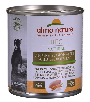 Изображение ALMO NATURE Classic Dog Kurczak, marchew i ryż 280g