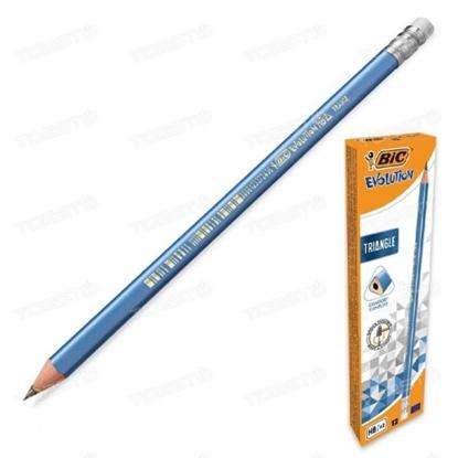 Picture of BIC Graphite pencil volution Triangle BLU ERA BCL 12pcs. box