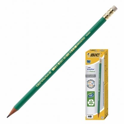 Изображение BIC pencils EVOLUTION ORIGINAL with eraser, HB, Pouch 12 pcs 083924
