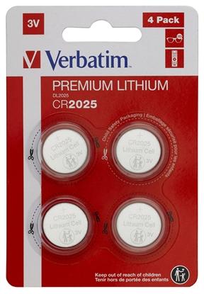 Изображение 1x4 Verbatim CR 2025 Lithium battery 49532