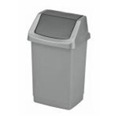 Attēls no Atkritumu tvertne 15L Click-it,  CURVER,  sudraba krāsā