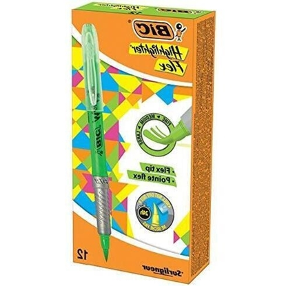 Picture of BIC Highlighter FLEX Green Box 12 494619