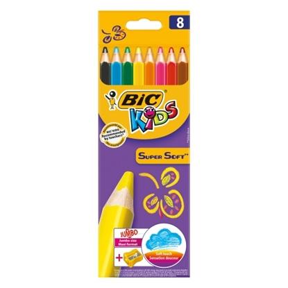Изображение Coloring pencils SUPERSOFT CBW8 + SHARPENER