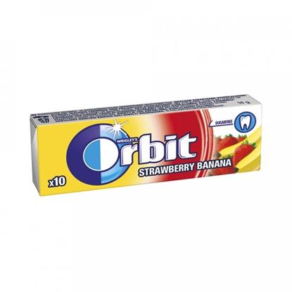 Attēls no Košļ.gum.Orbit Strawberry/Bananna Stickpack 10gab.