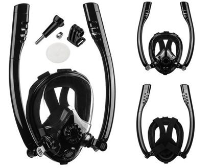 Attēls no RoGer Full Face Snorkeling Mask S / M Black