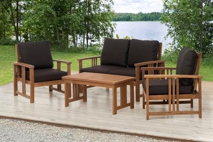 Attēls no Dārza mēbeļu kompl. 4Living Sulawesi 2-krēsli, dīvāns, galds