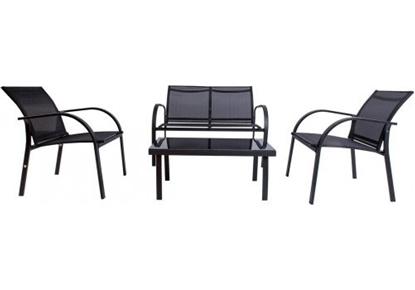 Attēls no Dārza mēbeļu komplekts Bert, galds, dīvāns, 2xkrēsli