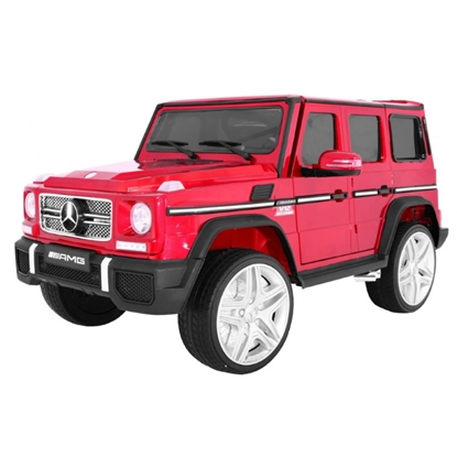 Изображение CP Licenzēts Bērnu Elektro Auto 2-Vietīgs Mercedes G 65 AMG (134*85cm) ar mūziku music / Gaismu / pulti Sarkans