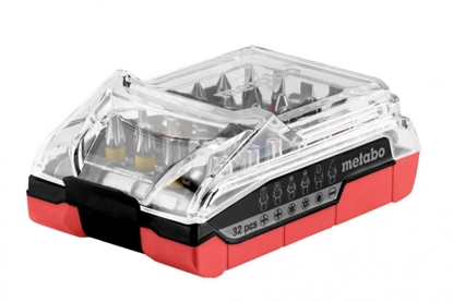 Изображение METABO Akumulatora skrūvgrieža uzgaļu komplekts 32 gab.,
