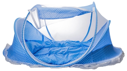 Изображение RoGer 3in1 Travel Bed with carpet and mosquito net Blue