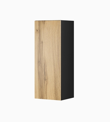 """Изображение Cama cabinet VIGO """"90"""" full 90/35/32 black/wotan oak"""