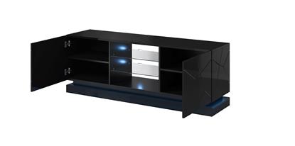 Изображение Cama TV cabinet QIU 160 MDF black gloss/black gloss