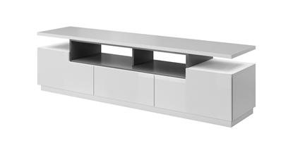 Изображение Cama TV cabinet RTV CHICAGO 180cm white/white gloss + graphite