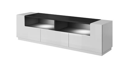 Изображение Cama TV cabinet RTV LAS VEGAS 180cm white/white gloss + black