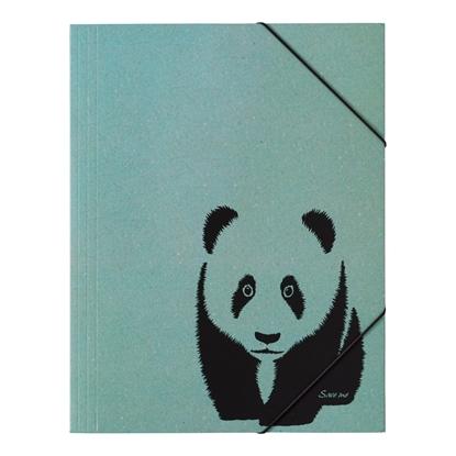 Attēls no DURABLE Mape PAGNA Panda, A4, elastīga, ar gumiju, zaļa