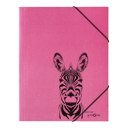 Attēls no DURABLE Mape PAGNA Zebra A4, elastīga, ar gumiju, rozā