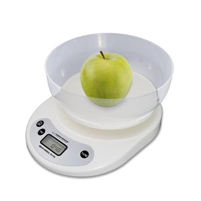 Изображение Esperanza EKS007 Kitchen scale with a bowl. White Electronic kitchen scale