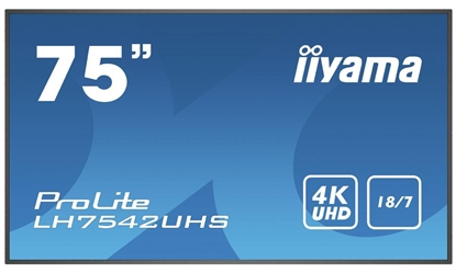 """Picture of 75"""" LCD 4K UHD IPS panel,"""