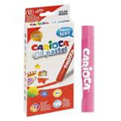 Picture of Eļļas pasteļkrītiņi 12 krāsas Super Soft,  Carioca