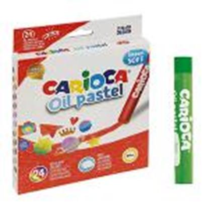 Picture of Eļļas pasteļkrītiņi 24 krāsas Super Soft,  Carioca