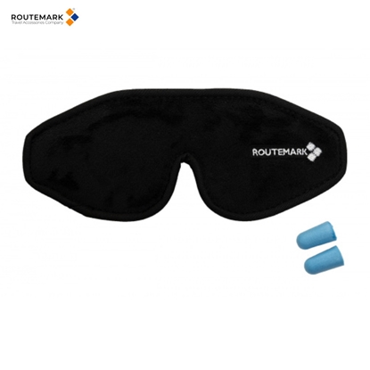 Attēls no Routemark E3D Speciāla dizaina anatomiska 3D Acu maska ''Evolution'' kvalitatīvam miegam Melns