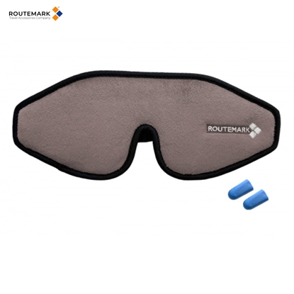 Attēls no Routemark E3D Speciāla dizaina anatomiska 3D Acu maska ''Evolution'' kvalitatīvam miegam Pelēks