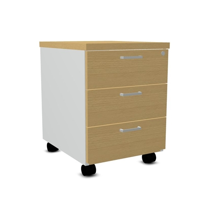 Attēls no Mobile storage cabinet (with lock) KH13 Ash gray/beech