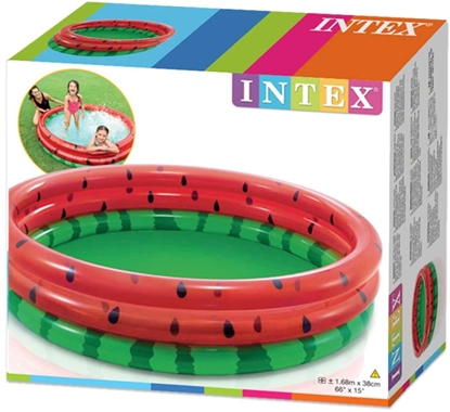 Изображение Intex Watermelon Pool Round, Multi Colour, 168 x 38cm, Age 2+