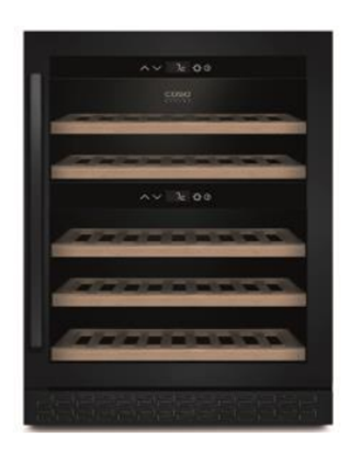 Attēls no Caso Wine cooler WineChef Pro 40 Energy efficiency class G, Free standing, Bottles capacity Up to 40 bottles, Cooling type Compressor technology, Black
