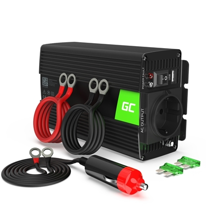 Picture of Green Cell INV02DE power adapter/inverter Auto 300 W Black