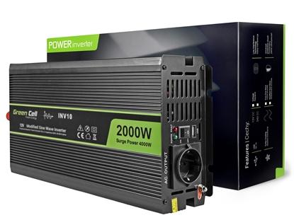 Изображение Green Cell INV10 power adapter/inverter Auto 2000 W Black