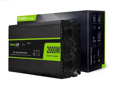 Attēls no Green Cell INV11 power adapter/inverter Auto 12 W