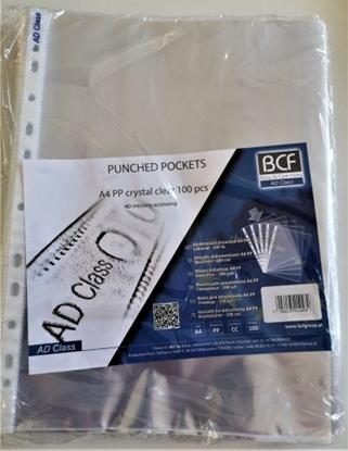 Изображение AD Class PUNCHED POCKET Cristal Clear A4 40 micr., ECONOMY pouch 100 pcs