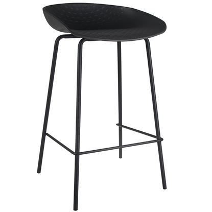 Attēls no Bāra krēsls MATERA 43.5x43xH74cm t. pelēks