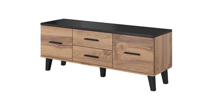 Изображение Cama RTV stand LOTTA 140cm wotan oak + matt black