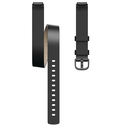 Изображение Fitbit  Luxe Accessory Double Leather Wrap, One size, Black