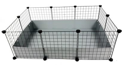 Изображение C&C Modular cage 3x2 110x75 cm guinea pig, hedgehog, silver grey