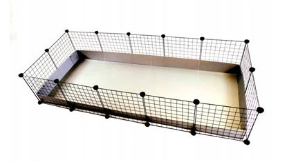Изображение C&C modular cage 3x2 pig rabbit hedgehog silver 180 x 75 x 37 cm