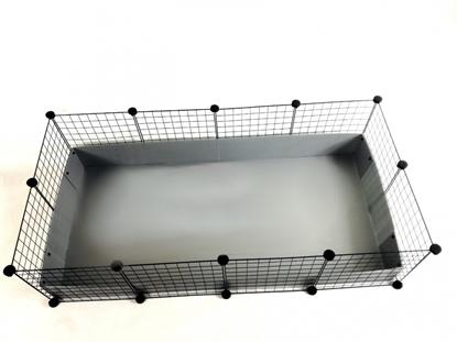 Изображение C&C Modular cage 4x2 145 x 75 cm silver