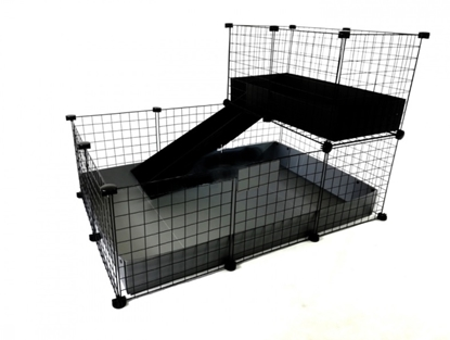 Изображение C&C modular cage one-storey 3x2 + Loft 2x1 + Silver ramp