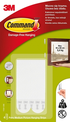 Picture of 3M picture hanging strips Command M